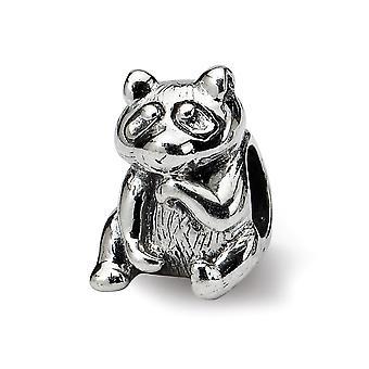 925 sterling plata pulido reflexiones Racoon abalorios encanto colgante collar regalos de joyería para las mujeres