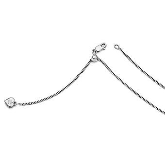 0.9 mm 925 sterling silver justerbar trottoar kedja halsband-3,3 gram-22 tum