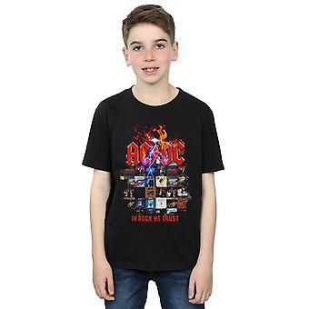 AC/DC Boys In Rock We Trust Album Cover T-Shirt