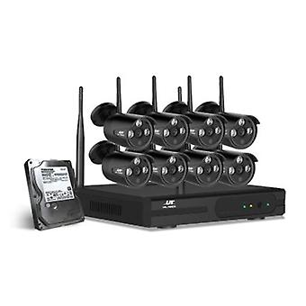 Wireless Security System 2Tb 8Ch Nvr 1080P 8 Camera Sets