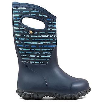 Bogs Boys York Spot Stripe Boots Blue