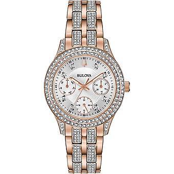 ブローバ 98N113 女性&アポ;クリスタル腕時計