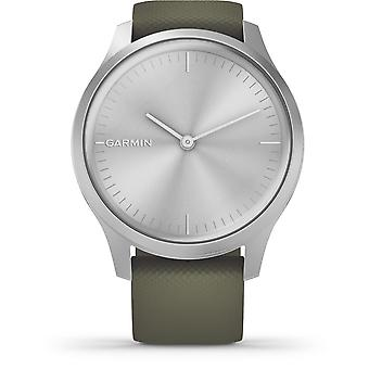 Garmin 010-02240-01 Vivomove Style Silver Tone With Green Silicone Band Smartwatch