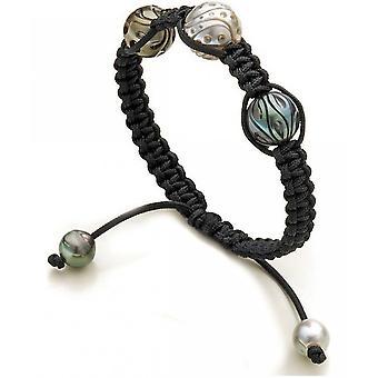 Luna-Pearls Beaded Bracelet Galatea Tahiti Perlen 8-8.5 mm- 11 mm- 12 mm 1065054