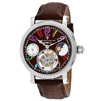 Christian Van Sant Men's Tourbillon X Limited Edition Brown Dial Watch - CV0993