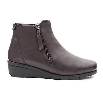 Padders Willow Ladies Leather Wide (e Fit) Boots Wine