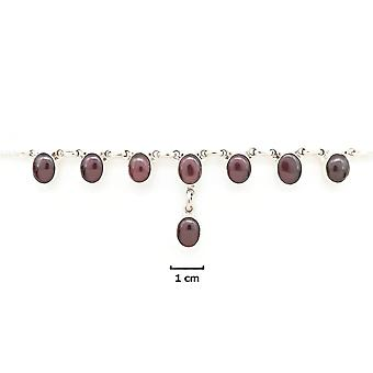 Garnet Necklace 925 Silver Sterling Silver Necklace Red (MCO 05-02)
