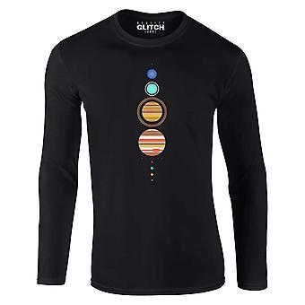 Män ' s enkelt solsystem långärmad t-shirt