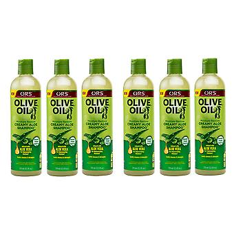Organic Root Stimulator Olive Oil Creamy Aloe Shampoo 370ml (6 Pack)