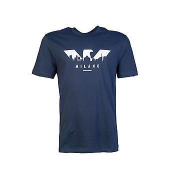 Emporio Armani T Shirt New York Skyline Print 6g1ta7 1j00z