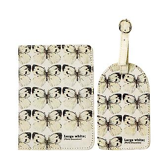 Large White Butterfly Passport & Luggage Tag - Ecologie Range
