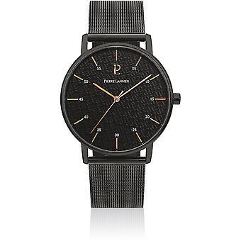 Visa Pierre Lannier 203F438 - titta på Milanese stål svart man