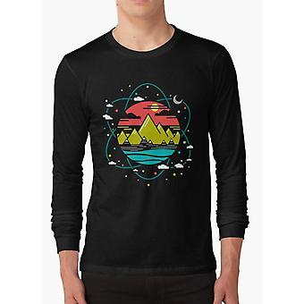 Isotope of life black full sleeves t-shirt
