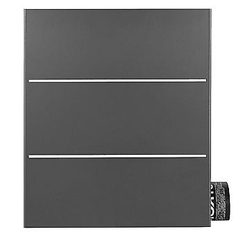 MOCAVI Box 141R Design letterbox with newspaper compartment dark grey (DB 703) with stainless steel, wall letterbox large, lock left