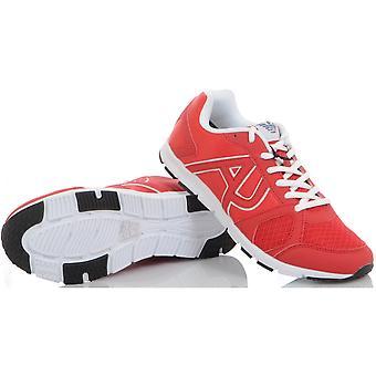 Armani Jeans Runner Monochrome Mesh Red Trainer