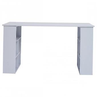 Rebecca Furniture Desk with shelves office table modern white Wood