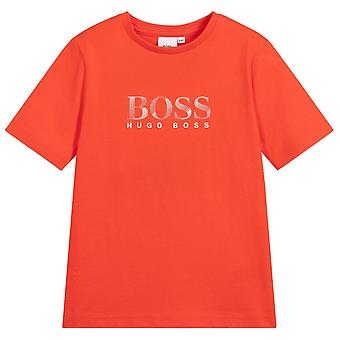 Hugo Boss Kids Short Sleeve Logo T-Shirt