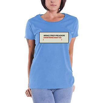 Manic Street Preachers T Shirt Everything Must Go new Official Womens Skinny Fit