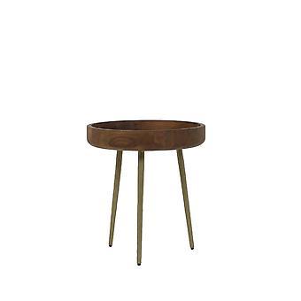 ライト&リビングサイドテーブル 40x45cm カルマウッドブロンズ