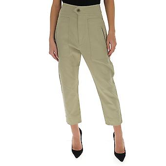 Isabel Marant ÉToile Pa153420p007e67ki Women's Green Cotton Pants