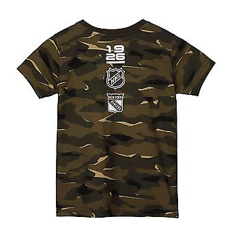 NHL Fan T-Shirt-New York Rangers wood camo