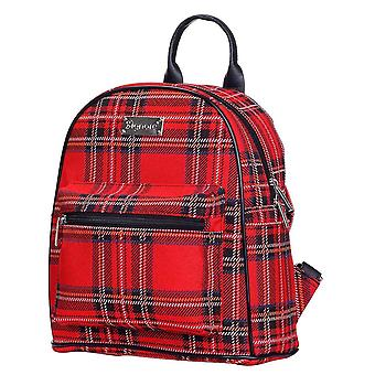Royal stewart tartan casual daypack | escócia mulheres xadrez mochila | dapk-rstt