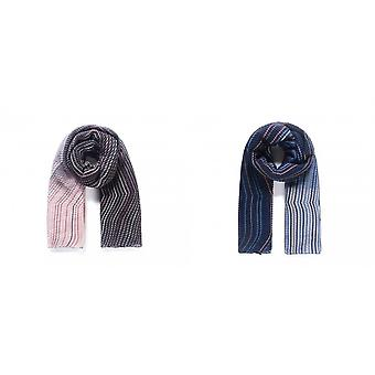 Intrigue Womens/Ladies Two Tone Chevron Pleated Scarf