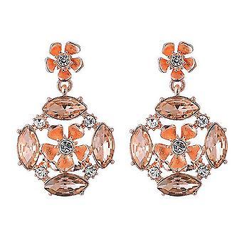 Sparkle Womens/Ladies Rose Drop Earrings