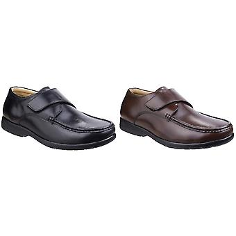 Fleet & Foster Mens Fred Dual Fit Leather Moccasin