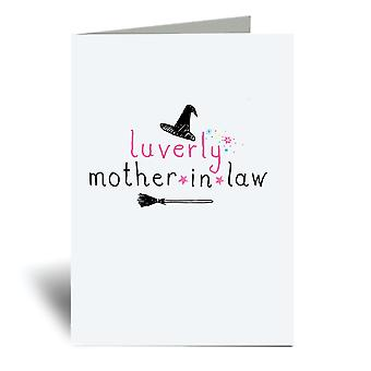 Lurvely Mother In Law A6 Greeting Card