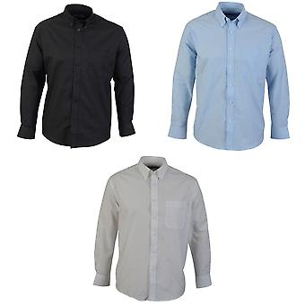 Absolute Apparel Mens Long Sleeved Oxford Shirt