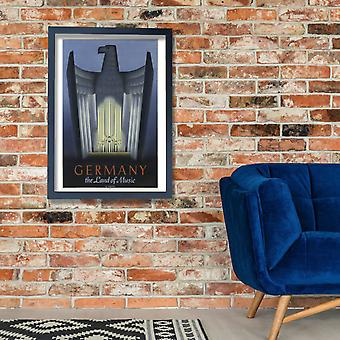 Germany The Land Of Music Poster Print Giclee
