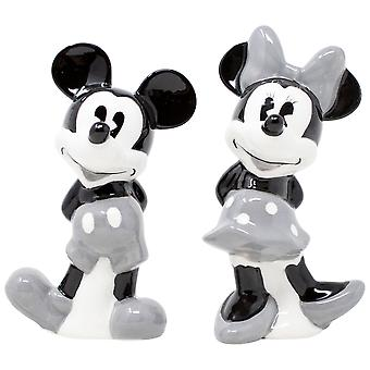 Disney Mickey and Minnie Mouse Grey Salt and Pepper Shakers
