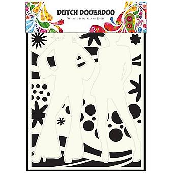 Dutch Doobadoo Dutch Mask Art stencil flower power 2  A4 470.715.802