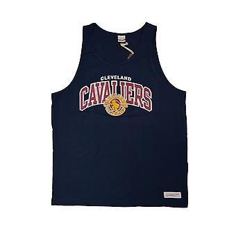 Mitchell & Ness Nba Cleveland Cavaliers Team Arch TEAMARCHTANKCLECAVNVY universal summer men t-shirt