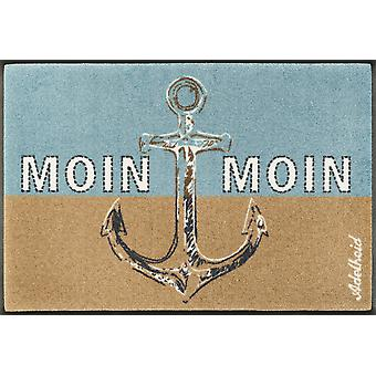 wash + dry mat Moin Moin 50 x 75 cm washable maritime foot mat