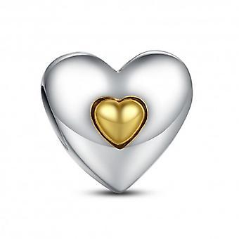 Sterling Silver Charm Grattis på årsdagen Hjärta - 5310