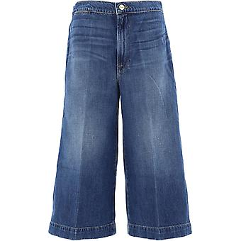 Frame Lcultr207swee Women's Blue Cotton Jeans