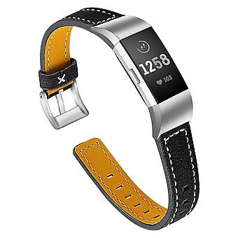 Pulsera de cuero Fitbit Charge 2 - negro