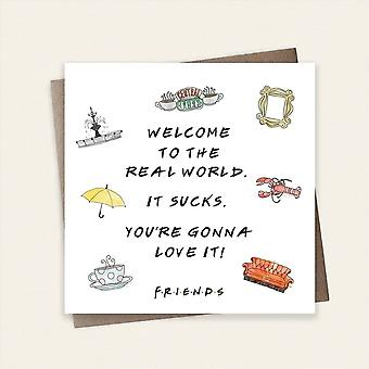 Cardology Friends Tv Show Welcome To The Real World Greeting Card