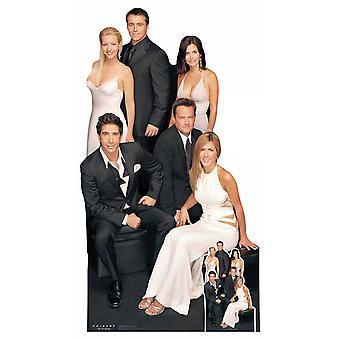 Friends Group Cardboard Cutout / Standee / Standup featuring Rachel, Ross, Joey & gang