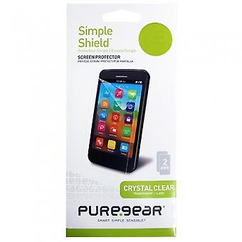 APPLE IPHONE 6 PLUS/6S MÁS PUREGEAR SIMPLE ESCUDO PROTECTOR DE PANTALLA - PACK 2