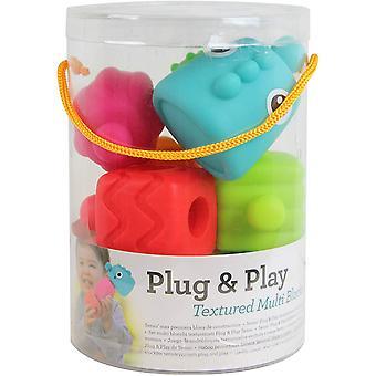 Infantino Sensory Plug & Play Textured Multi Blocks Set