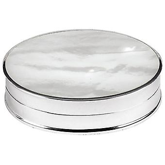 Orton West Mother of Pearl Pill Box - Silver
