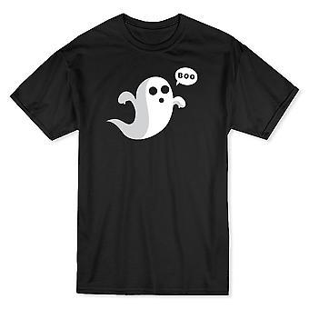 Mignon fantôme effrayant pas le fantôme amical classique noir T-shirt homme
