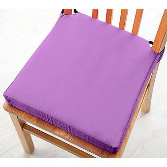 Purple 2pk Seat Pad Cushions with Secure Fastening Dining Kitchen Chairs Soft Cotton Twill