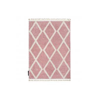 Tæppe BERBER TROIK A0010 pink / hvid Frynser Berber marokkanske shaggy