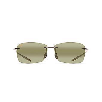 Maui Jim Vuurtoren Rechthoekige zonnebril - Trans Smoke Grey /Maui HT Gepolariseerd - Medium