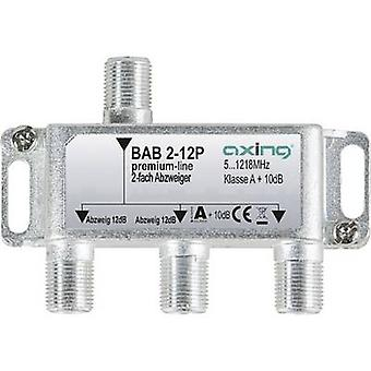 Axing BAB 2-12P Cable TV splitter 2-way 5 - 1218 MHz