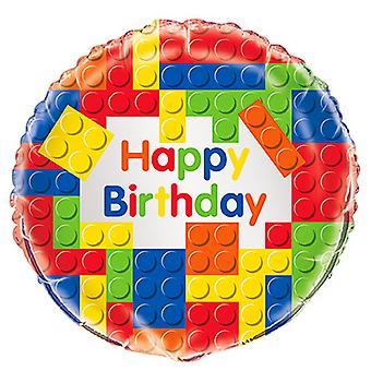 Unik Party 18 tums byggstenar födelsedag folie ballong